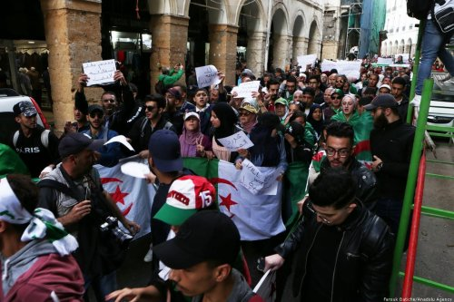 Thousands of Algerians take part in an anti-government demonstration against Bouteflika regime figures in Algiers, Algeria on November 05, 2019. [Farouk Batiche/Anadolu Agency]