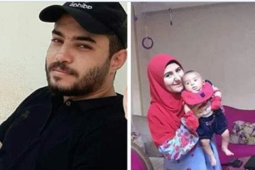 May Mohamed Abdel Sattar and her husband Islam Hussein were arrested by Egyptian police on 1 November along with their three-month-old baby, Fares