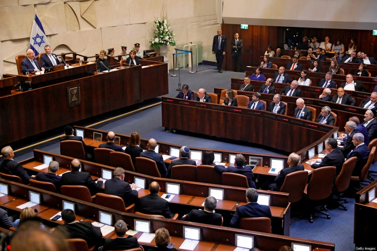 A general overview of a meeting held in Knesset, Israel on October 3, 2019 [MENAHEM KAHANA/AFP via Getty Images]