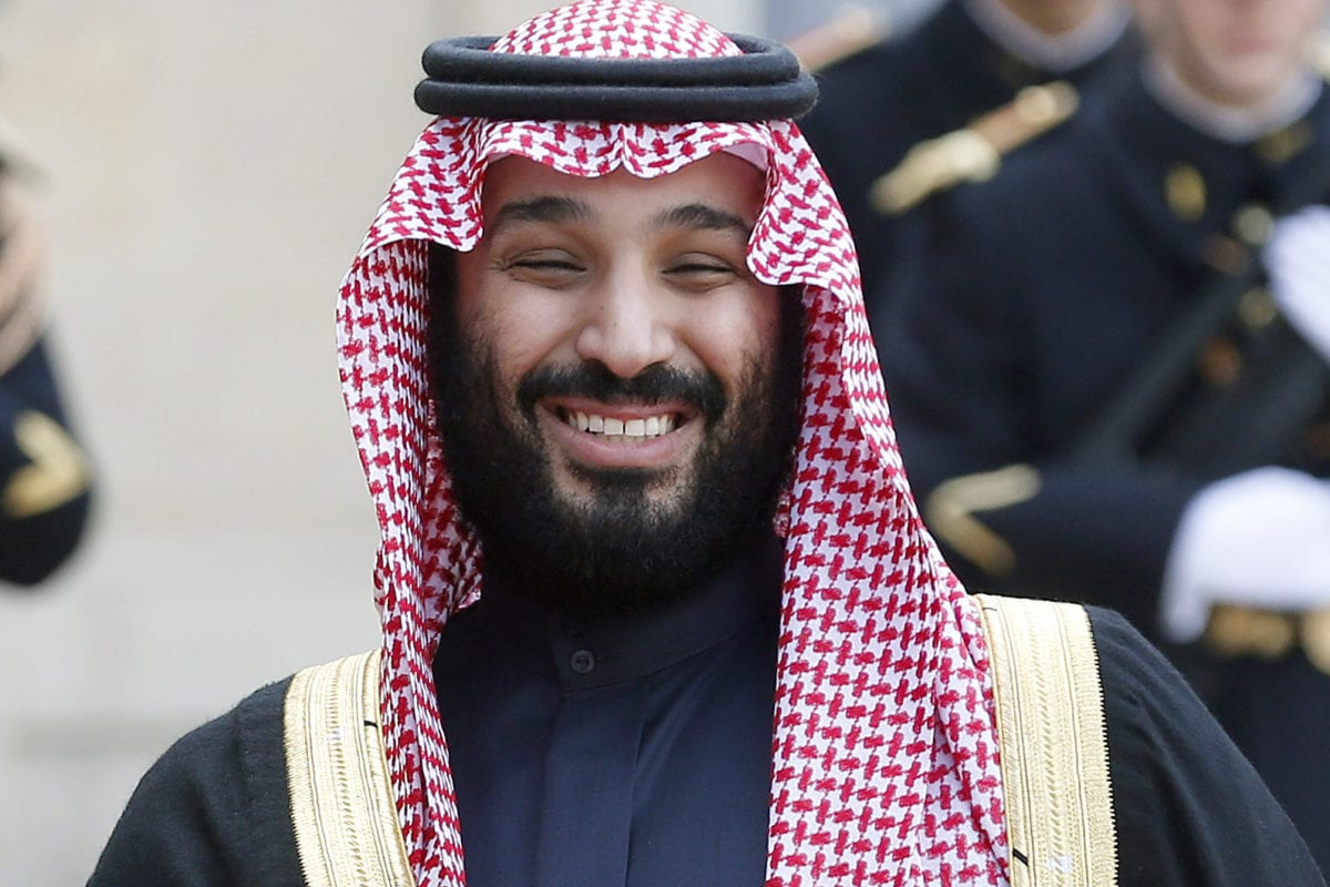 Saudi Arabia's Crown Prince Mohammed bin Salman poses prior to a meeting with French President Emmanuel Macron at the Elysee Presidential Palace on 10 April, 2018 in Paris, France [Chesnot/Getty Images]