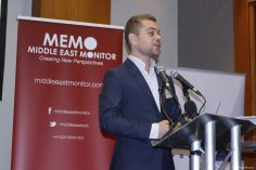Dr Dimitris Bouris at MEMO and EuroPal Forum conference The Palestine Question in Europe on 23 November 2019 [Middle East Monitor]