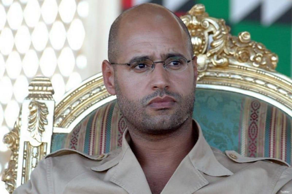 Former Libyan leader Muammar Gaddafi's son, Saif Al-Islam