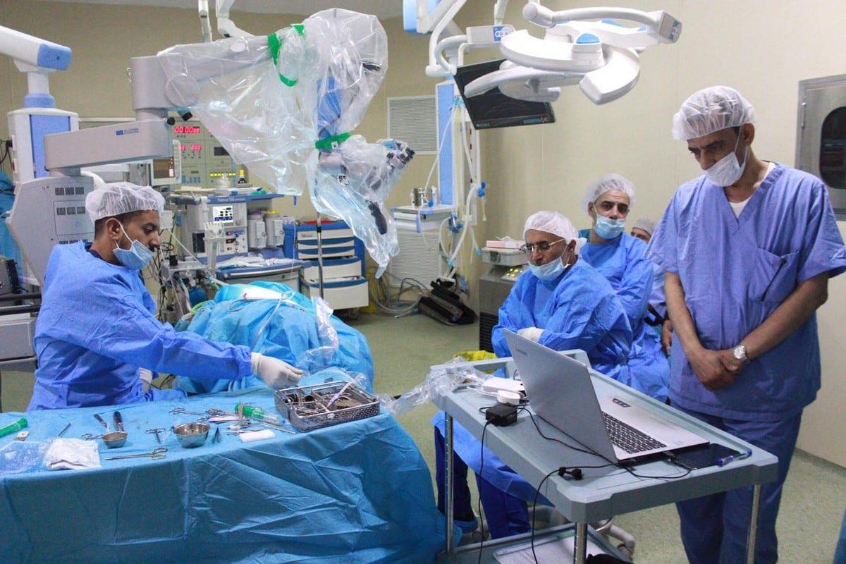 Qatari doctors perform ochlear implant operations on Palestinian children on 26 November 2019