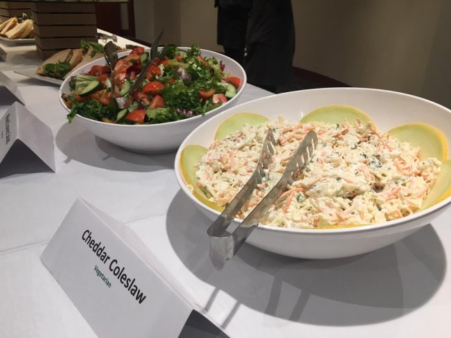 Salads for lunch at MEMO and EuroPal Forum conference The Palestine Question in Europe on 23 November 2019