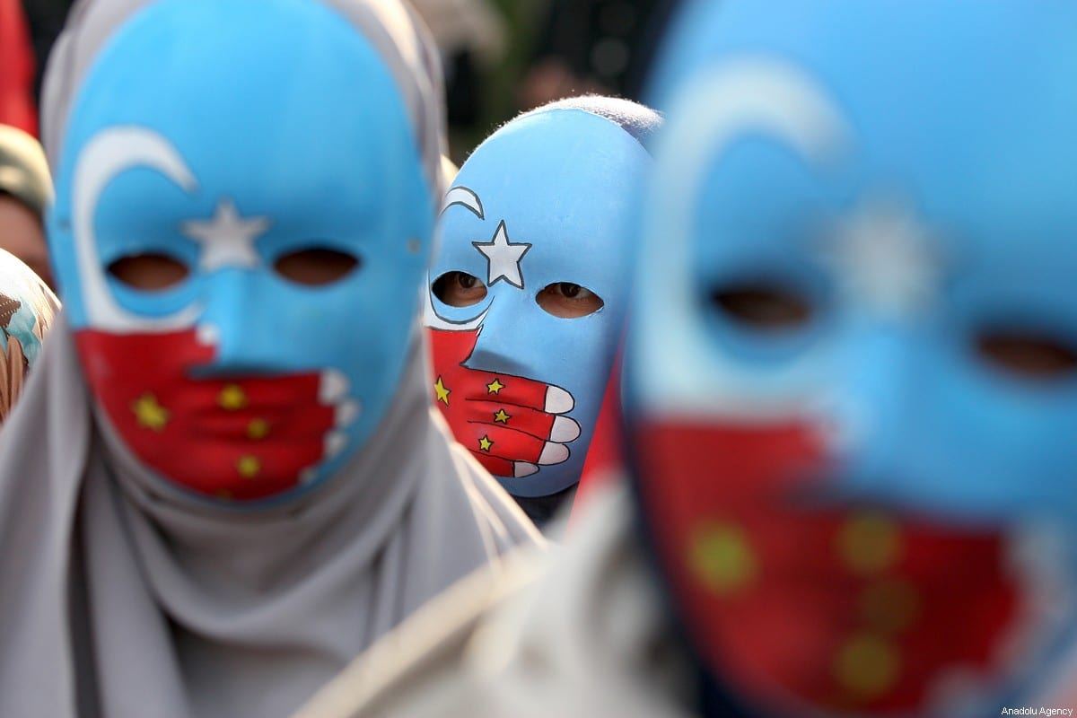 Image shows a demonstration in Turkey in support of Uyhgur Turks in China. Source: Middleeastmonitor.com