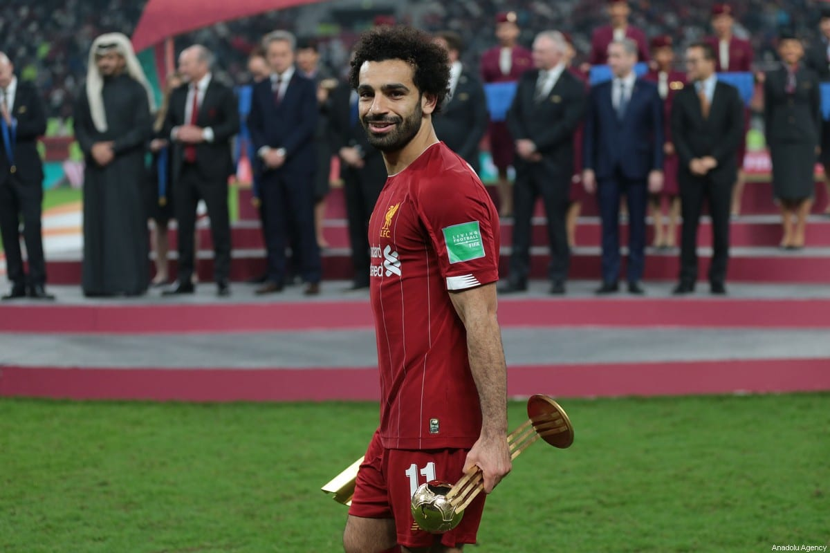 Mohamed Salah of Liverpool poses for a photo after he was named best player in the tournament during the cup ceremony at the end of the FIFA Club World Cup Qatar 2019 Final match between Liverpool FC and CR Flamengo at Khalifa International Stadium in Doha, Qatar on 21 December 2019. [Mohammed Dabbous - Anadolu Agency]