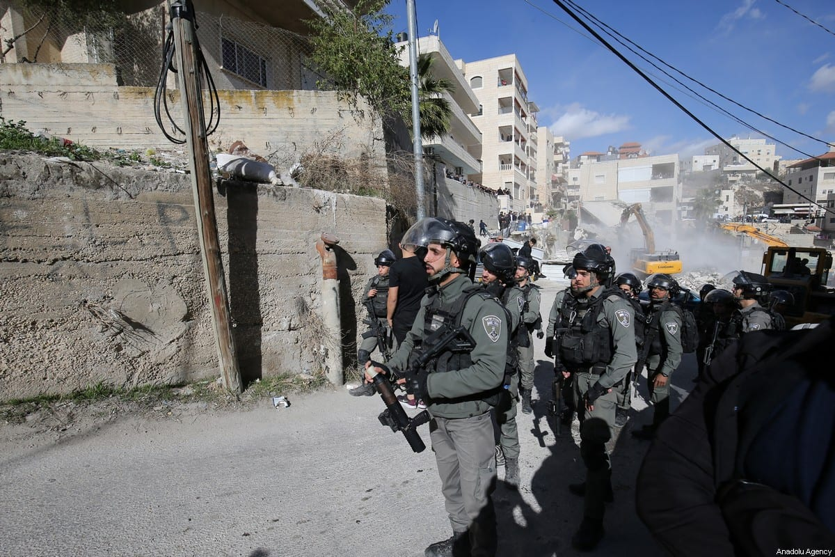 Israeli forces take security in Jerusalem on 24 December 2019 [Mostafa Alkharouf/Anadolu Agency]