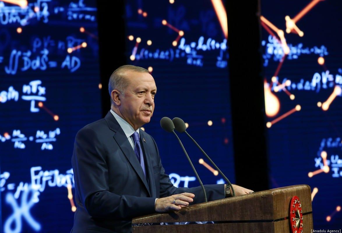President of Turkey Recep Tayyip Erdogan in Ankara, Turkey on 30 December 2019 [Murat Kula/Anadolu Agency]