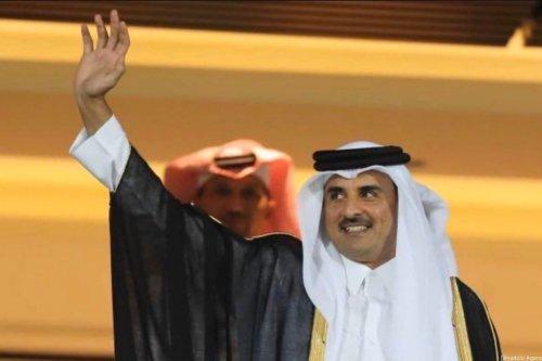 Qatar's Emir Sheikh Tamim Bin Hamad Al-Thani in Tehran, Iran on 12 January 2020 [Iran's Leader Press Office/Anadolu Agency]