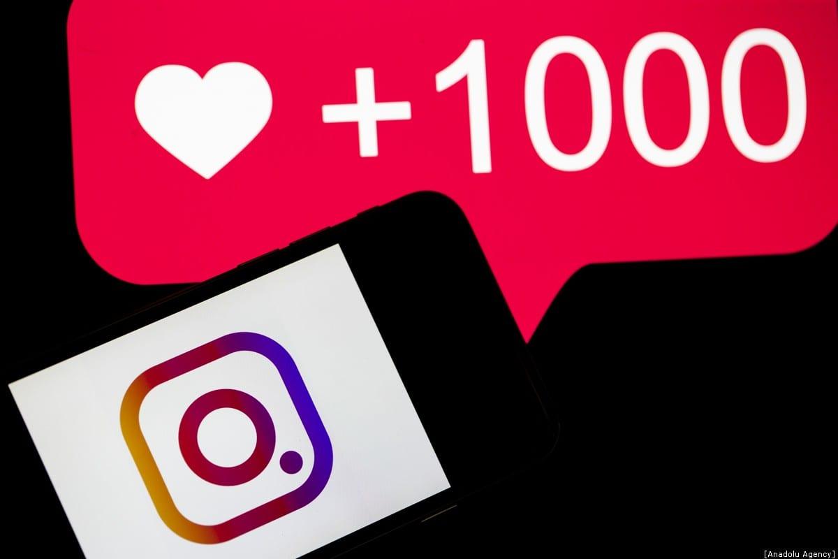 A phone screen displays the logo of Instagram application, 10 December, 2019 [Metin Aktas/Anadolu Agency]