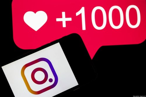 A phone screen displays the logo of Instagram application, 10 December, 2019 [Metin Aktas/Anadolu Agency]