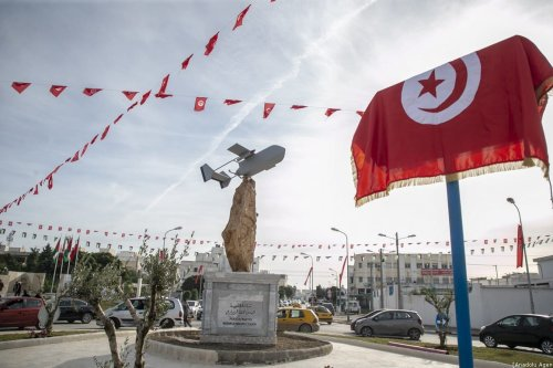 People attend the opening of a memorial park in Le Kram town, north of Tunisian capital Tunis on December 15, 2019 [Yassine Gaidi - Anadolu Agency]