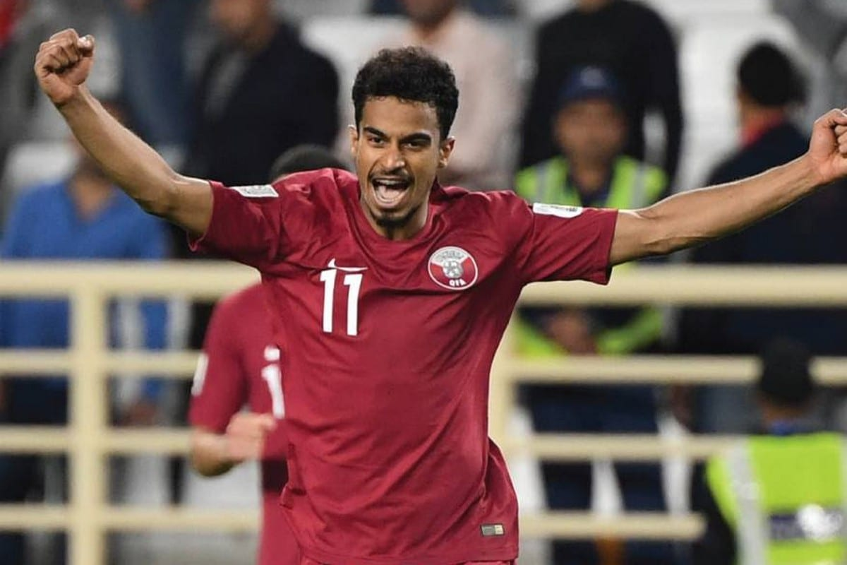 Qatari forward Akram Afif