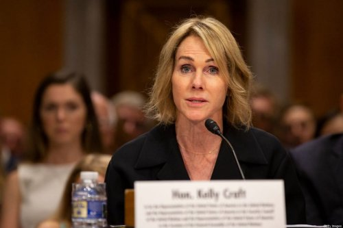 Kelly Craft, President Trump's nominee to be Representative to the United Nations, testifies at her nomination hearing before the Senate Foreign Relations Committee on June 19, 2019 in Washington, DC. [Stefani Reynolds/Getty Images]