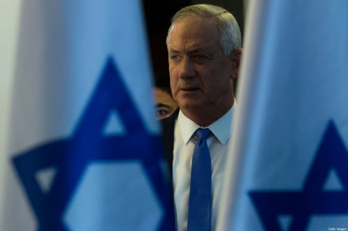 Benny Gantz, Blue and White party leader in Tel Aviv on November 2019 [Amir Levy/Getty Images]