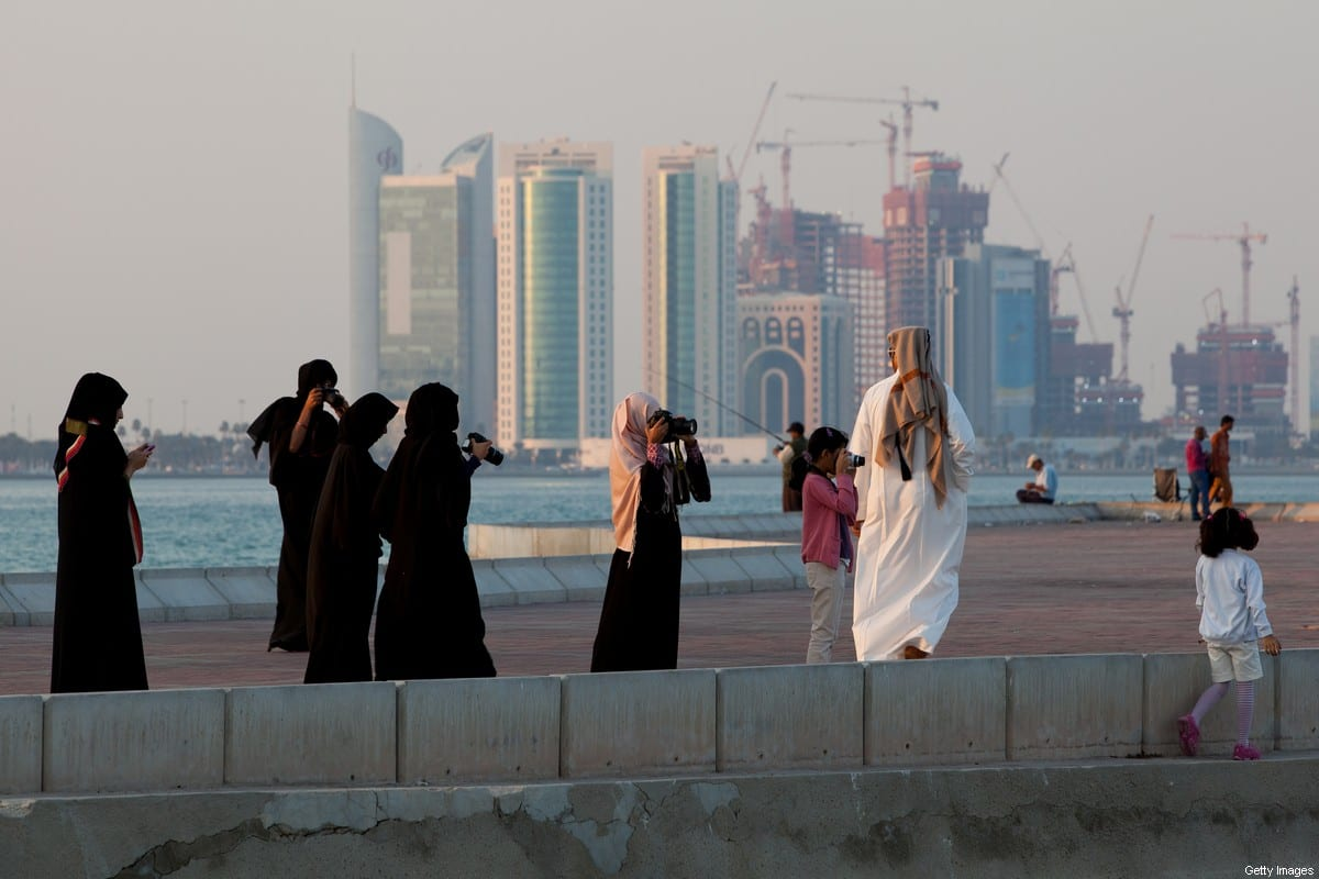 New high-rise office buildings and hotels, some of them still under construction, stand in the West Bay and Oneiza district in Qatar on 21 December, 2011 in Doha, Qatar [Nadine Rupp/Getty Images]