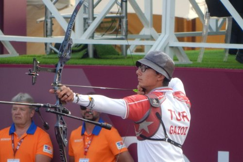 Turkish archer Mete Gazoz at the Archery World Cup Final in Moscow, Russia 7 September 2019 [Wikipedia]
