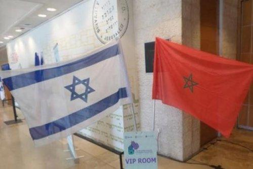Israeli and Morocco flags