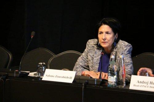 Georgia's President Salome Zourabichvili on 27 October 2018 [OSCE Parliamentary Assembly/Flickr]