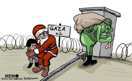 Israel is much like the Grinch - Cartoon [Sabaaneh/MiddleEastMonitor]