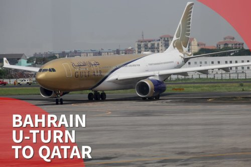 Thumbnail - Bahrain flies football fans to blockaded Qatar, u-turns via Kuwait