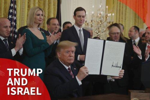 Thumbnail - Amid criticism, Trump signs order targeting anti-Semitism at universities
