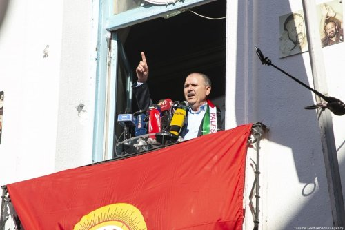 Tunisian General Secretary of Labour Union (UGTT) Noureddine Taboubi in Tunis, Tunisia on 14 January 2020 [Yassine Gaidi/Anadolu Agency]