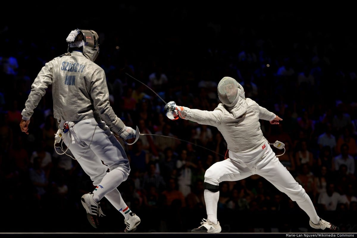 Semi-finals of the 2013 World Fencing Championships [Marie-Lan Nguyen/Wikimedia Commons]