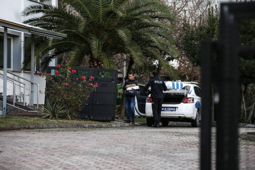 IPolicemen are seen outside a police station after 7 suspects were arrested allegedly for helping out former chairman of Nissan, Carlos Ghosn flee from Japan, where he was held in house arrest, to Lebanon over Istanbul, on 2 January 2020 in Istanbul, Turkey. [Onur Çoban - Anadolu Agency]