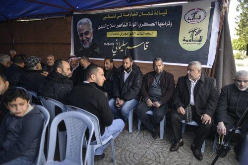 Palestinians mourn Soleimani's death in Gaza city, on 4 January 2020 [Anadolu Agency]
