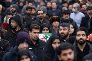 Iranians take part in an anti-US rally to protest the killing of Iranian Revolutionary Guards' Quds Force commander Qasem Soleimani by a US airstrike in the Iraqi capital Baghdad, at Palestine Square in the capital Tehran, Iran on January 4, 2020 [Fatemeh Bahrami / Anadolu Agency]
