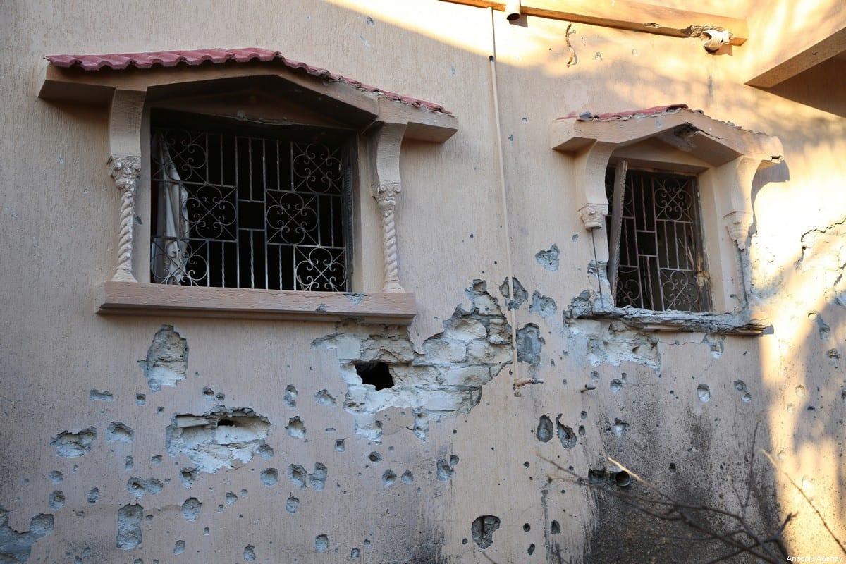 The house of a civilian, Dr. Cuma Bilosman'ın (70), is seen after it was damaged by Haftar forces' strike on Mitiga Airport in Tripoli, Libya on January 04, 2020 [Hazem Turkia -/ Anadolu Agency]