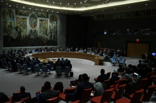 Voting held for the aid resolution to Syria at United Nations Security Council in New York, USA on January 10, 2020. [Tayfun Coşkun - Anadolu Agency]