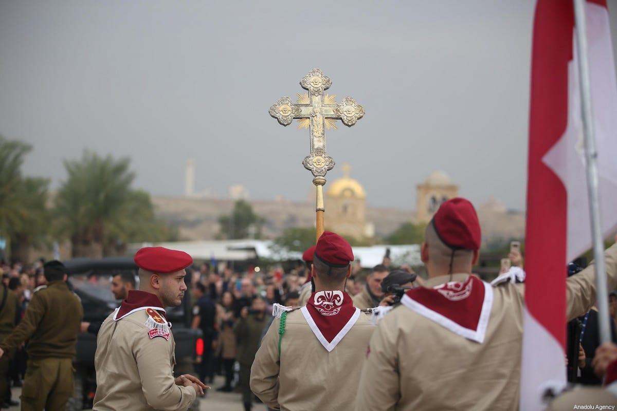 Orthodox Christians in Jericho, West Bank on 18 January 2020 [Issam Rimawi/Anadolu Agency]
