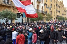Lebanese people protest against country's economic and political situation in Beirut, Lebanon on January 18, 2020 [Mahmut Geldi / Anadolu Agency]
