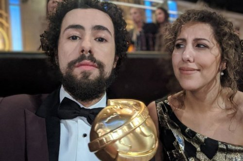 Egyptian-American stand-up comedian Ramy Youssef at the Golden Globes on 6 January 2020 [Ramy Youssef/Twitter]