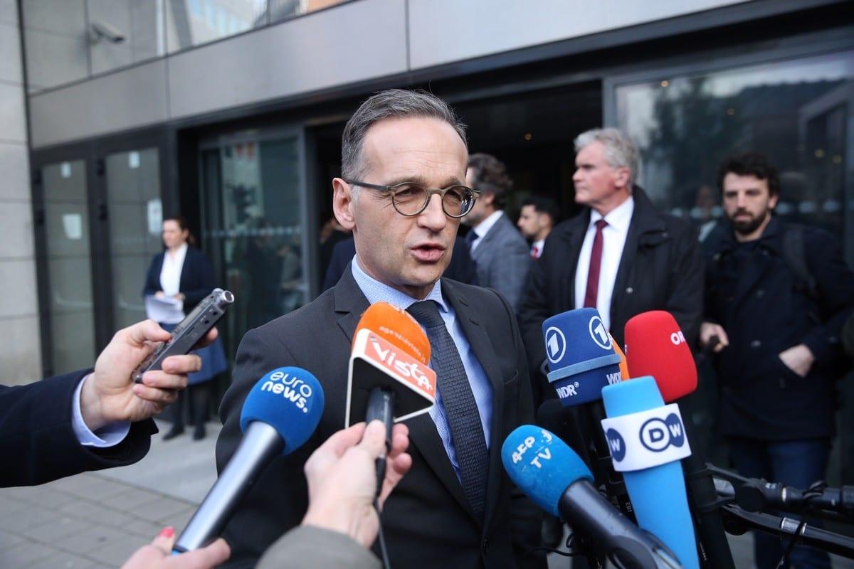German Foreign Minister Heiko Maas in Brussels, Belgium on 7 January 2020 [Dursun Aydemir/Anadolu Agency]