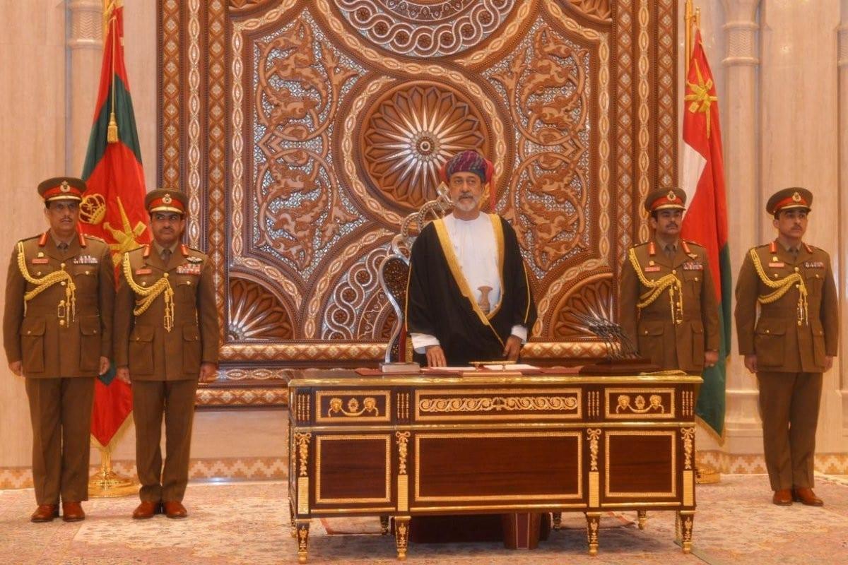 Oman's new Sultan Haitham Bin Tariq Al Said on 11 January 2020 [Twitter]