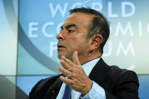Carlos Ghosn, speaks at the Annual Meeting 2013 of the World Economic Forum in Davos, Switzerland, on January 2013. [Remy Steinegger-Wikipedia]