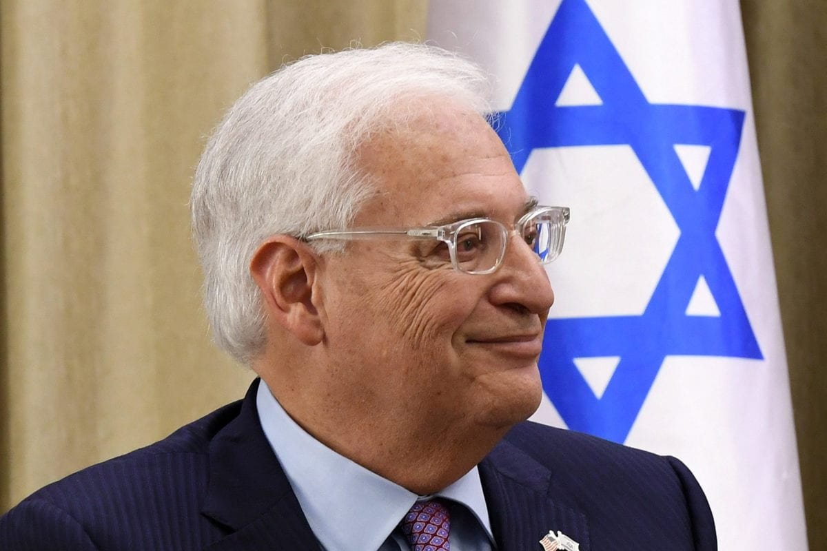 US ambassador to Israel David Friedman on 16 May 16, 2017 [Wikipedia]