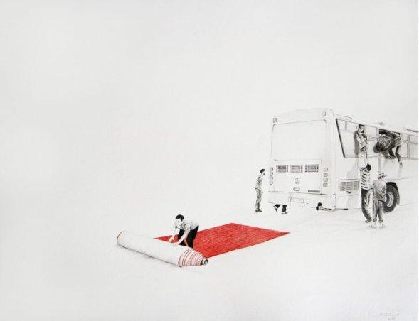 Algerian artist Massinissa Selmani's 'Do we need shadows to remeber #1', 2013; [Courtesy: Collection of Centre Pompidou, Paris]