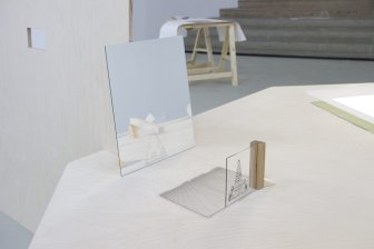 Algerian artist Massinissa Selmani's work, at the Ce qui coule n'a pas de fin, solo show Palais de Tokyo Paris. Curated by Yoann Gourmel. with the support of SAM Art Projects [Photo: Aurélien Molle]