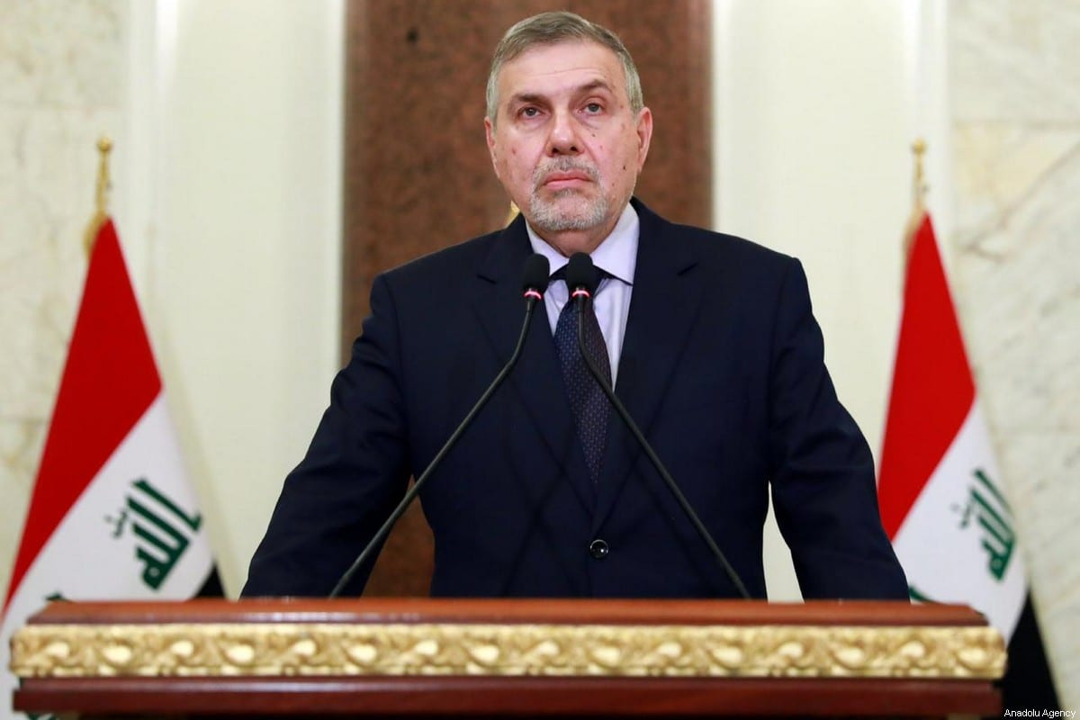 Iraq's former communications minister Mohammed Tawfiq Allawi speaks after being assigned by Iraq's president Barham Salih to form a new government, in Baghdad, Iraq on February 1, 2020 [IRAQI PRESIDENCY PRESS OFFICE / HANDOUT - Anadolu Agency]