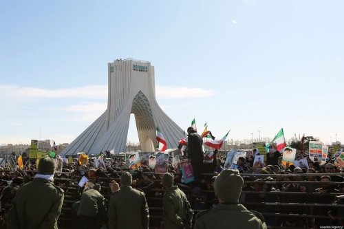 Iranians attend commemorations marking 41 years since the Islamic Revolution in the capital Tehran's Azadi Square on February 11, 2020 [Fatemeh Bahrami / Anadolu Agency]