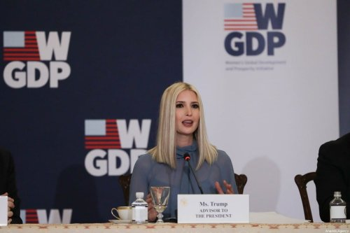 US President Donald Trump's daughter and advisor Ivanka Trump hosts an event to mark the first anniversary of the Women's Global Development and Prosperity Initiative (W-GDP) Initiative in the Franklin Room of the Department of State in Washington, United States on February 12, 2020 [Yasin Öztürk / Anadolu Agency]