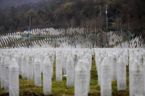 Gravestones are seen at the Potocari Monument Cemetery in Potocari village of Srebrenica, Bosnia and Herzegovina on February 15, 2020. [Samır Jordamovıc - Anadolu Agency]