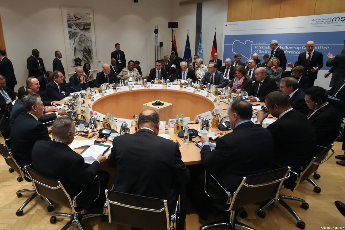 MUNICH, GERMANY - FEBRUARY 16: Turkish Foreign Minister Mevlut Cavusoglu attends foreign ministers' meeting to discuss recent efforts for cease-fire in Libya as part of Berlin Process in Munich, Germany on February 16, 2020. ( Cem Özdel - Anadolu Agency )