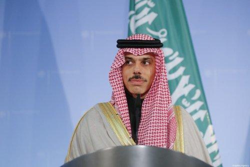 Saudi Arabian Foreign Minister Prince Faisal bin Farhan in Berlin, Germany on 21 February 2020 [Abdulhamid Hoşbaş/Anadolu Agency]