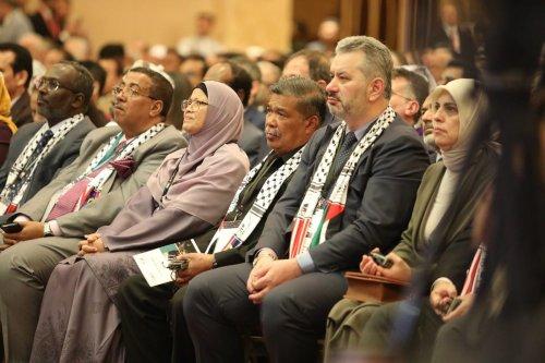 Attendees to the 3rd Conference of the Inter-parliamentary Jerusalem Platform in Kuala Lumpur in Kuala Lumpur, Malaysia on 8 February 2020 [Farid Bin Tajuddi/Anadolu Agency]