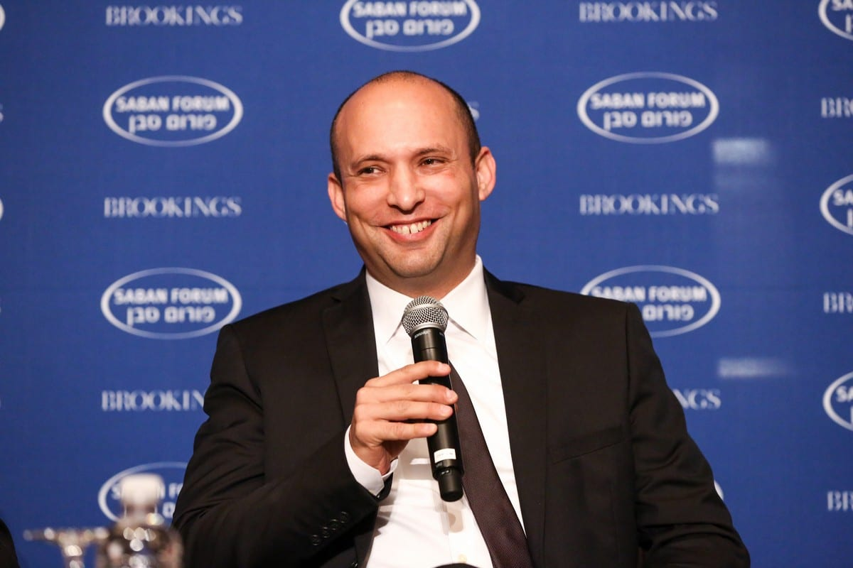 Israeli Defence Minister Naftali Bennett, 6 December 2015 [Brookings Institution/Flickr]